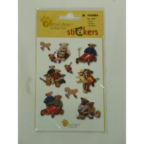 Teddy mit Spielzeug,  Sticker | Collector´s Bears Sticker | Artikelnummer: LA160U