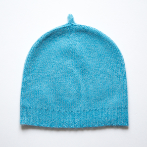 Basic Plain Hat | 100% Cashmere, Colour: Air Blue | Code: 0716AH050155XXX