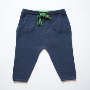 Baby Pants | 100% Cashmere, Colour: Navy | Code: 0715BP010151XXX