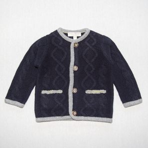 Aran Cardigan | 100% Cashmere, Colour: Dark Navy | Code: 0716BC030156XXX
