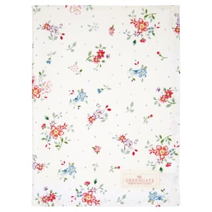 Greengate Belle white | Tea towel Belle white, Geschirrtuch, 50 x 70cm  | Artikelnummer: COTTEABLL0112