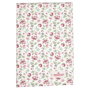 Greengate Camille petit whiite   | Tea towel Camille petit whiite , Geschirrtuch, 50 x 70 cm | Artikelnummer: COTTEACMP0112