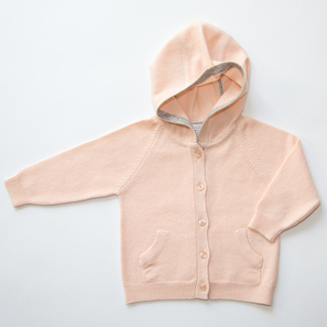 Hoody Cardigan | 100% Cashmere, Colour: Nude Rosé | Code: 0716BC050133XXX