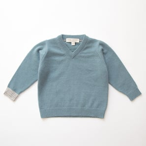 V-Jumper | 100% Cashmere, Colour: Ashley Blue | Code: 0119BJ090152XXX