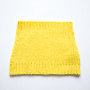Basic Plain Loop Scarf  | 100% Cashmere, Colour: Lemon Yellow | Code: 0716AS050111XXX