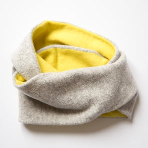 Loop Scarf Two Colours | 100% Cashmere, Colour: Light Grey Mélange | Code: 0716AS110181X