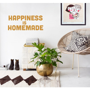 HAPPINESS IS HOMEMADE Wandsticker Spruch Typo  |  | Artikelnummer: 113299911
