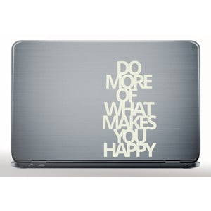 Laptop Sticker DO MORE OF WHAT MAKES YOU HAPPY  |  | Artikelnummer: 55672939