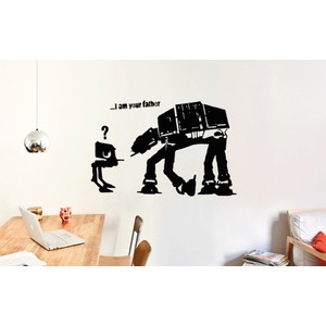 BANKSY I AM YOUR FATHER Streetart Wandtattoo  |  | Artikelnummer: 70215939