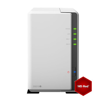 Synology DS215j incl. 4TB (2 x 2TB) WD RED NAS RAID Server Bundle | ab Lager lieferbar! | Artikelnummer: DS215j2x2TBWDRED