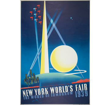 WERBEPLAKAT 1939 | New York World's Fair | Artikelnummer: POD-PI-4198-A4