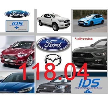Ford IDS 118.04 + Kalibrierung C 81 Vollversion, Diagnosesoftware, Stand 07.2020 | Alle Windows-Systeme ab Windows 7 >(32 & 64 bit) | Artikelnummer: 000001172