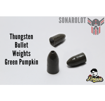 Tungsten Bullet Weights Green Pumpkin | Bullet Weights Green Pumpkin 1/8 Oz = 3,5g  | Artikelnummer: 100042