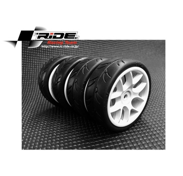 Ride 1/10 Slick Tires Precut 24mm Pre-glued with 10 Spoke Wheel White, 4pcs. |  | Artikelnummer: RI-26072