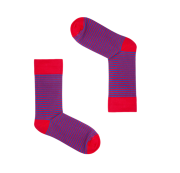 Classic Red & Blue Striped Socks | Grösse 36 - 41 | Artikelnummer: socks_clas000007