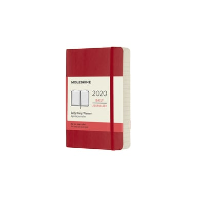 2020 Moleskine Daily Diary Pocket | Softcover, rot / red | Artikelnummer: 628790 soft_rot