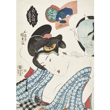 Geisha Preparing Herself | Collection of Beautiful Women of the Present | Artikelnummer: PODE-HM 11486-A3