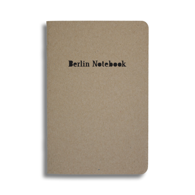 Recycling Notizbuch Berlin Notebook / Recycling Notebook  | Glänzender Prägedruck / Holographic foil embossing | Artikelnummer: berlinnotebook_schwarz