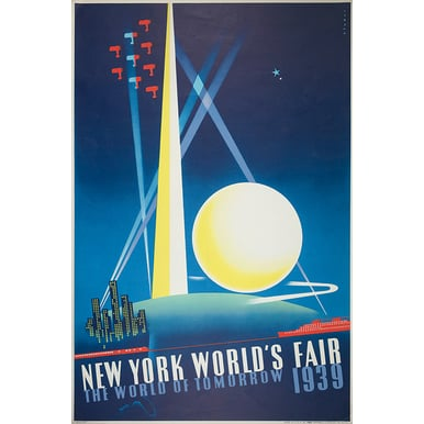 WERBEPLAKAT 1939 | New York World's Fair | Artikelnummer: POD-PI-4198-A2