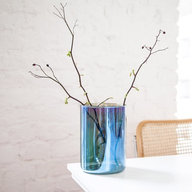 Benzin Wide Vase | Made in Germany and treated Czechia 12cm x 18cm Titanium Coated Glass | Artikelnummer: 4260404251507