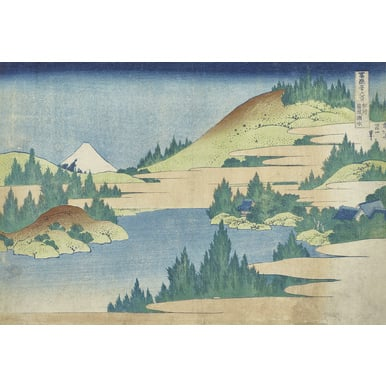 Thirty-six Views of Mount Fuji | Sea at Hakone in Sagamin province | Artikelnummer: PODE-KI-10992-A4