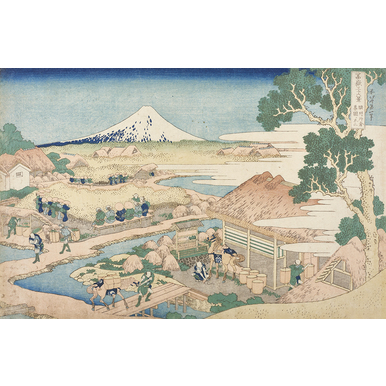 Thirty-six Views of Mount Fuji | Mount Fuji as seen from the tea plantation Katakura from Suruga province | Artikelnummer: PODE-KI-11025-A1