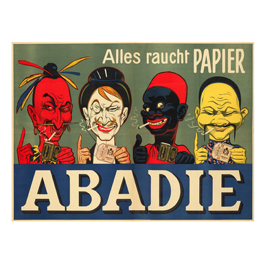 Abadie-Alles raucht Papier | Advertising Poster around 1905 | Artikelnummer: POD-PI-2731-A4S