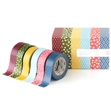 mt Wamon 3 Masking Tape Geschenkbox  / mt Wamon 3 Masking Tape Gift Box  | 6 Rollen gemustertes Washi Tape / 6 rolls of patterned washi tape | Artikelnummer: MT06P003Z