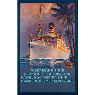 Advertising Poster 1915 | Woermann-Linie | Artikelnummer: PODE-PI-529-A3S