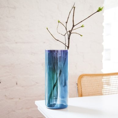 Benzin Tall Vase | Made in Germany and Czechia 10cm x 23cm Titanium Coated Glass | Artikelnummer: 4260404251491