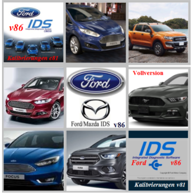 Ford IDS Version 86 mit Kalibrierungsdaten C81 | Windows 7,8 und 10 | Artikelnummer: 000001013