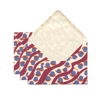 Kuverts Charleston Muster C6 / Envelopes Charleston | 1 Set à 3 Kuverts / Pack of 3 envelopes | Artikelnummer: cambridge_kuvert_charleston