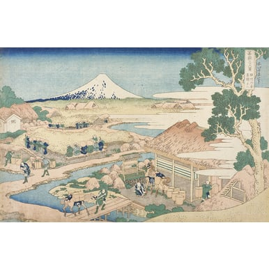 Thirty-six Views of Mount Fuji | Mount Fuji as seen from the tea plantation Katakura from Suruga province | Artikelnummer: PODE-KI-11025-A3S