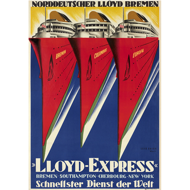 Advertising poster 1929 | Lloyd Express | Artikelnummer: PODE-PI-2909-A1
