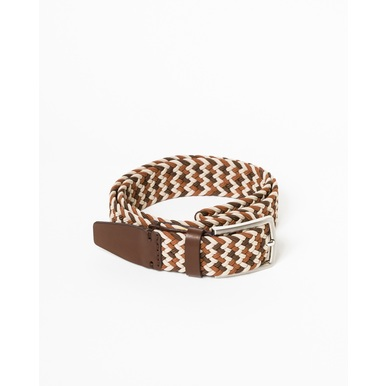 Vegane Gürtel Made in Poland | Light Brown | Artikelnummer: belt_woven000004