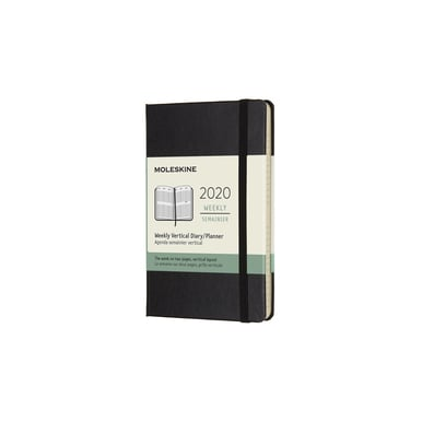 2020 Moleskine Weekly Vertical Pocket Diary  | Hardcover, schwarz / black | Artikelnummer: 629346 vert_pocket