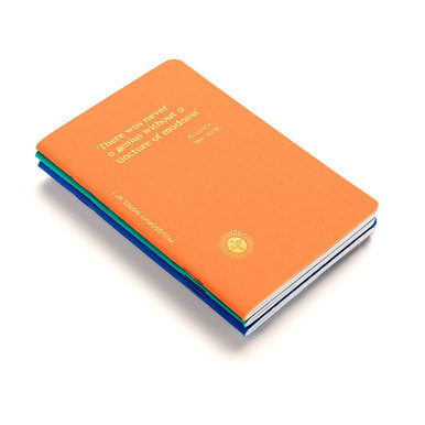 Philosophy Notes - Notizhefte von Octaevo / Notebooks by Octaevo | Packung à 3 Stück / Pack of 3 | Artikelnummer: octaevo-philo
