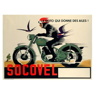SOCOVEL | Advertising Poster 1930 | Artikelnummer: POD-PI-13368-A4S