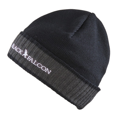 Black Falcon Beanie | Mit Stick Label | Artikelnummer: BE-1001-18