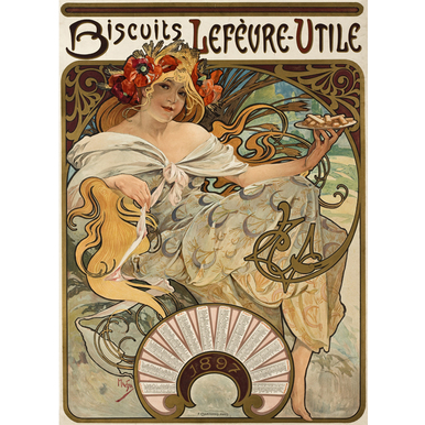 Biscuits Lefèvre-Utile | Advertising Poster 1896 | Artikelnummer: POD-PI-42