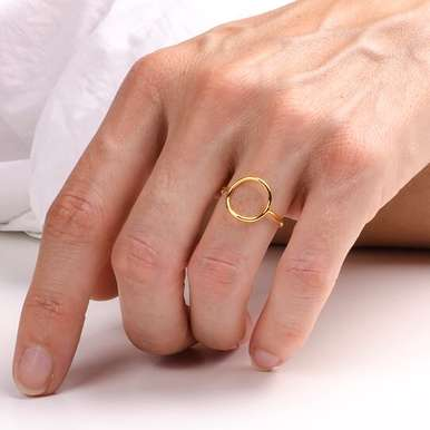 Ring Kreis Gold | Gelb Gold Größe 52 | Artikelnummer: RGC Ring Geometric Circle Yellow 1-S