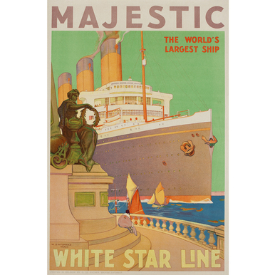 Advertising poster 1932 | Majestic - White Star Line | Artikelnummer: PODE-PI-4395-A4S
