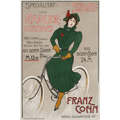 Specialität: Sport- und Radler Costumes | Advertising Poster around 1910 | Artikelnummer: POD-PI-3385-A3S