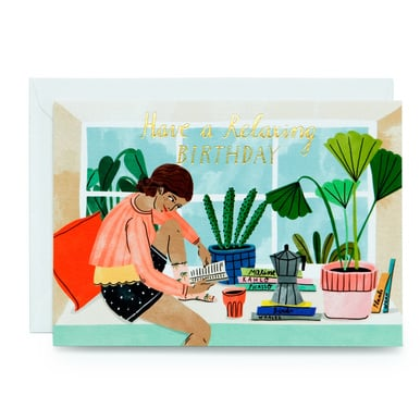 Have a relaxing birthday – Geburtstagskarte | Have a relaxing birthday – Birthday Card | Artikelnummer: wrap3