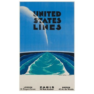 United States Lines | Advertising Poster 1935 | Artikelnummer: POD-PI-4448-A2S
