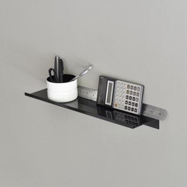 Z Shelf von kolor | steel powder coated Black size 40 x 10 cm | Artikelnummer: 15.09s