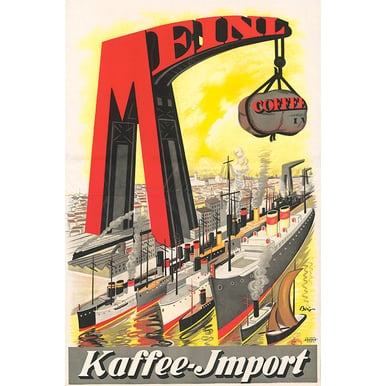 Advertising poster 1922 | Meinl Kaffee | Artikelnummer: PODE-PI-396-A2S