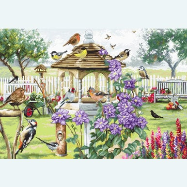 Bird Table - borduurpakket met telpatroon Letistitch |  | Artikelnummer: leti-944