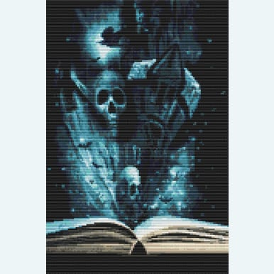 Book of Halloween - Borduurpakket met telpatroon Orcraphics |  | Artikelnummer: orc-2015-02-29