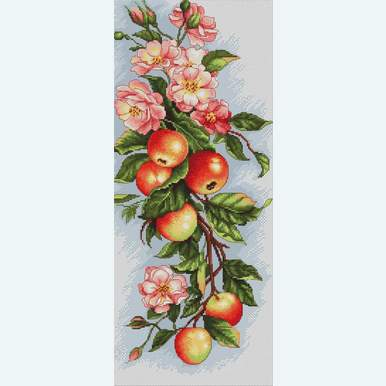 Composition with Apples - borduurpakket met telpatroon Luca-S |  | Artikelnummer: luca-b211